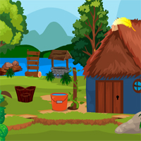 Free online flash games - Games4King Blue Hut Escape game - Games2Dress
