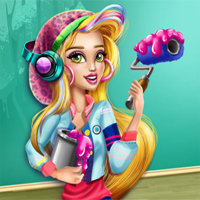 Free online flash games - Gwen College Room Prep game - Games2Dress