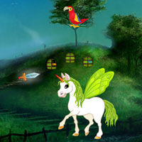 Free online flash games - Mysterious Fantasia Forest Escape game - Games2Dress
