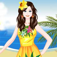 Free online flash games - Tropical Trend game - Games2Dress